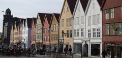 UNESCO Bryggen wharf, Bergen. Photo Rita de Lange/Fjord Travel Norway