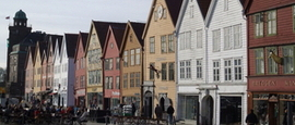 Bryggen wharf Bergen. Photo Rita de Lange/Fjord Travel Norway