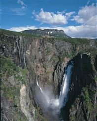 Voringfoss waterfall. Photo by Destinasjon Hardangerfjord