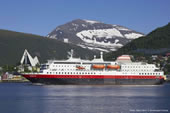 Hurtigruten ship in Tromso. Photo ard Loken/Dest *Tromso