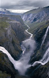 Maabodal canyon & Voringfoss waterfall. Photo Destinasjon Hardangerfjord