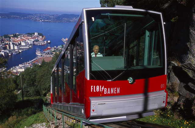 Funicular Bergen. Photo Terje Rakke, Nordic Life/Innovation Norway
