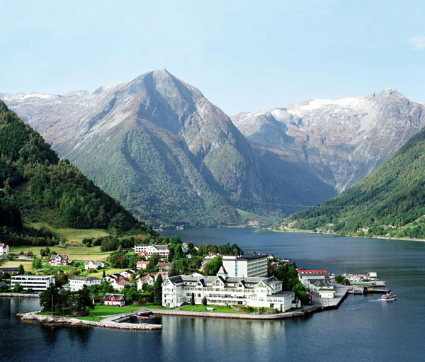 Balestrand village. Photo Kvikne's hotel