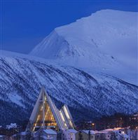 Twilight in Tromso-Arctic cathedral. Photo by Baard Loken, Destin Tromso